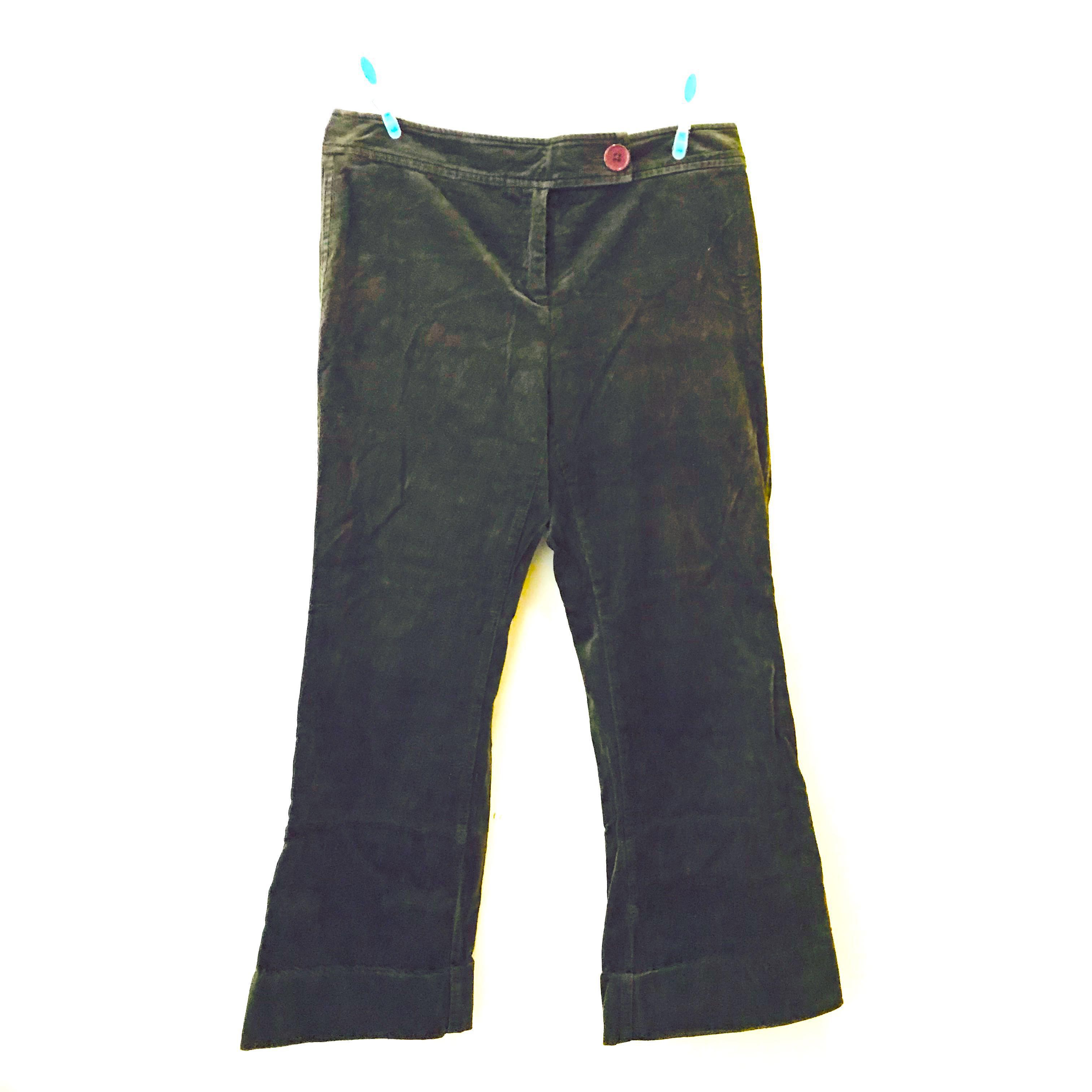 d74c74781ad Sonoma Jeans Stretch Dark Forest Green Suede Straight Boot Cut Pants