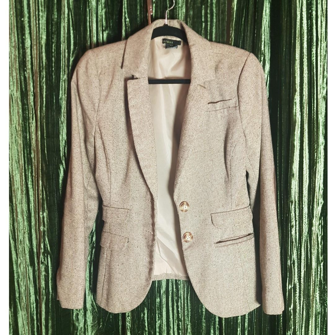 Women's Brown Schoolboy blazer with elbow patch - Gently used - Size Small