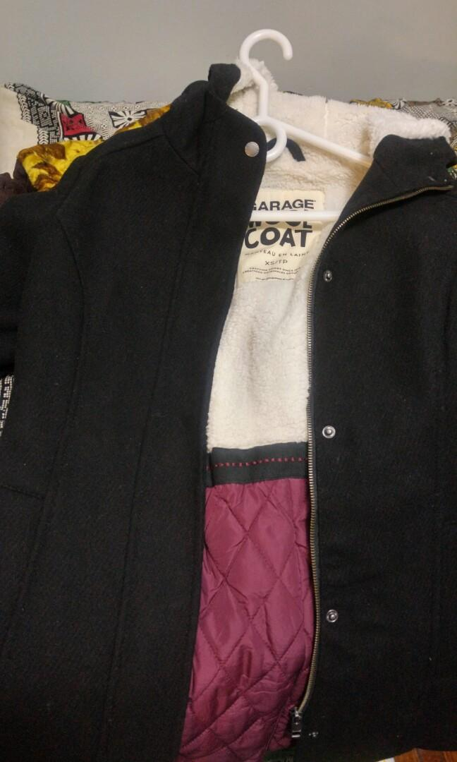 Wool coat (xs) from garage