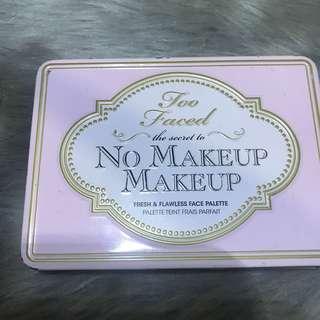 too faced no make up makeup palette