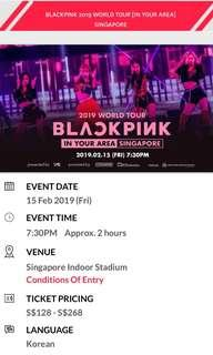 wts blackpink concert tickets in sg
