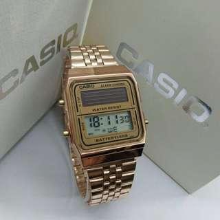 CASIO Stainless Steel Digital Free box  Free postage  0126346092