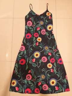 Floral spaghetti maxi dress