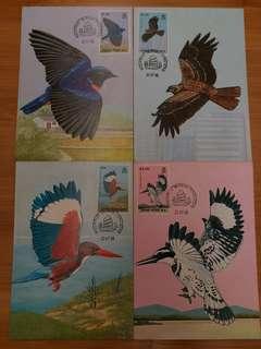 1988年香港雀鳥( 一套 4張 )有黃 售價:$40