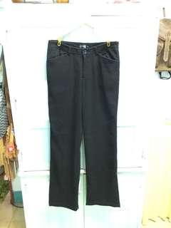 一般條紋西裝褲(黑) 賣場一次購買兩件9折三件85折