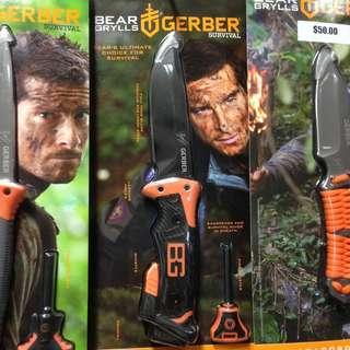 Gerber Bear Grylls Ultimate PRO Knife Fixed Blade With Self Knife Sharpening, Whistle, Firestarter, Pommel, Lashing Holder, Full Tang Blade Premium 9CR19MOV Steel. One of the best Survival Knife in its League. 2018/2019 New Packaging See Last Picture.