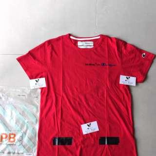 OFF WHITE TEE OFFWHITE CHAMPION RED TSHIRT #maups4