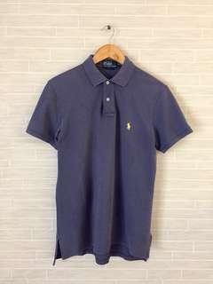 Mens RALPH LAUREN Polo Custom Fit Marine Blue