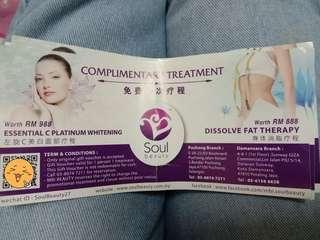 Facial&Body slimming treatment vouchers
