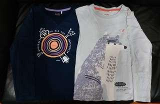 Endo knitted tee with robot and animal print
