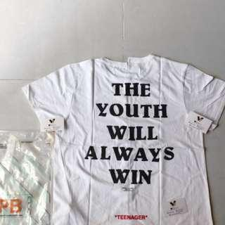 OFF WHITE TEE OFFWHITE YOUTH WINS #maups4