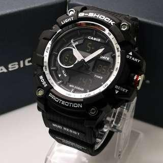 G SHOCK DUAL TIME #2 TIME #DAY-DATE #ALARM #STOPWATCH Free box  Free postage  0126346092