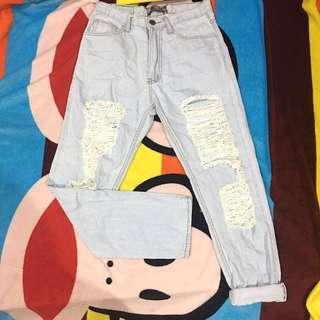 High Waist Ripped Jeans 💗