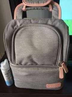 Breast pump bag.