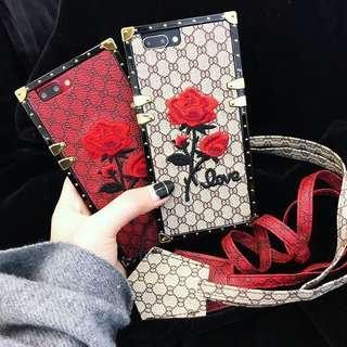 奢華刺繡玫瑰花IPhone 7 手機殼