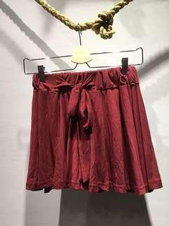 【全新】Starmimi 酒紅色短褲裙
