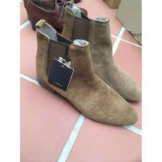 【全新4.5折】Zara麂皮駝色短靴