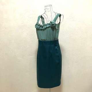 FOC FREE 2 Tone Teal Dress