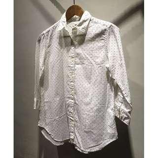 Uniqlo 水玉點點長袖襯衫