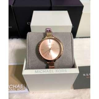 【可面交】Michael Kors MK3735 玫瑰金 女錶 36mm 基隆大錶哥 保固一年 MK