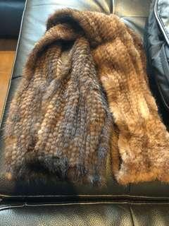 New (no tags) mink scarf