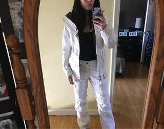 Burton Womens White Snowpants Size Extra Small