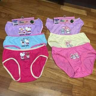 New* $14.90 Hello Kitty My Melody Panties Underwent under garment Size L 7-8 years old Bamboo Cotton