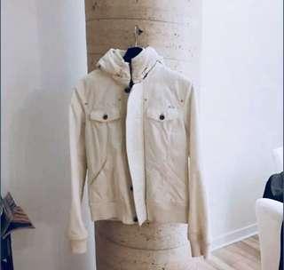 Aritzia TNA White Canvas Jacket Size Small