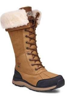 UGG Women's Tall Adirondack leather Boots Size 8