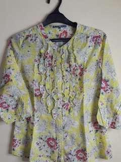Polo original flower kemeja /shirt