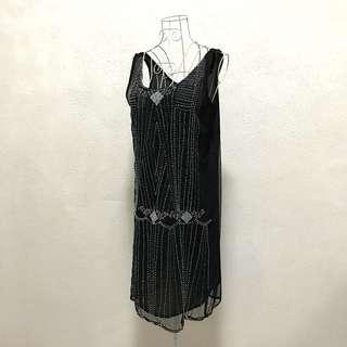 Wallis Gatsby Beaded Black Dress