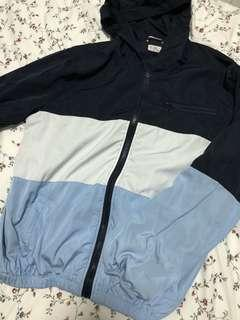 Brandy melville krissy tri colour blue windbreaker jacket