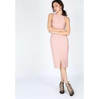 *PERFECT FOR CNY* BNWT Love Bonito Reyna Bodycon Dress in Blush Pink Size S