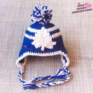 New handmade Toronto maple leafs baby hat