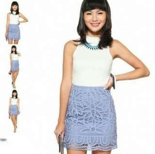 *PERFECT FOR CNY* BNWT Love Bonito Laurentia Skirt In Periwinkle Size M