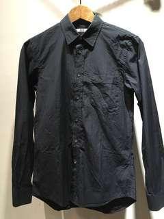 【全新】質感Uniqlo黑長襯衫