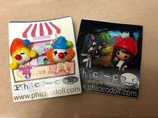 [全新包郵] 泰國黏土耳環套裝phicicodoll 小丑 小紅帽 手作耳環 earrings handmade