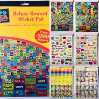 🚚 2500 Deluxe Reward Stickers Pad