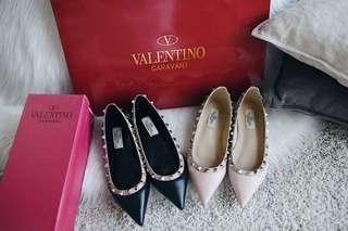 Vale**tino Classic Rockstud Ballerina Flat Shoes