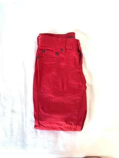 Bluenotes Red Curvy Jeans