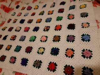 🚚 手鈎織毛線 毯子桌巾