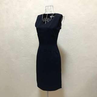 Super Dark Blue Work Dress