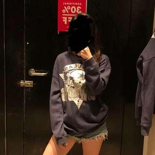 Topshop varsity navy sweater