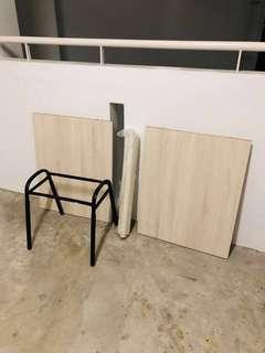 ❌not chipboard ❌Plywood ✅ solid wood  and metal legs table