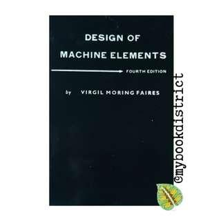 Design of Machine Elements by Faires