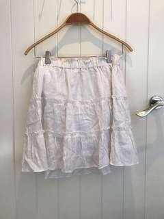 White glassons skirt size 8