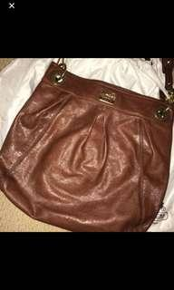Authentic coach leather bag- large