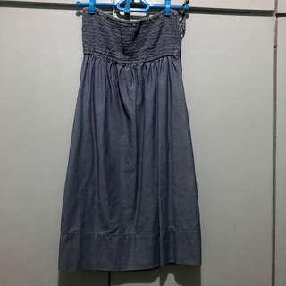 Blue denim Mango dress