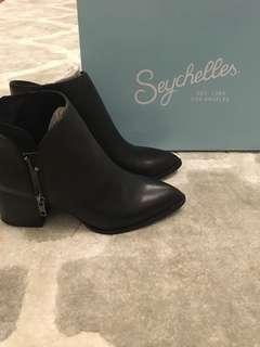 Seychelles black leather booties - Size 6.5