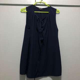 Navy Zalora Top